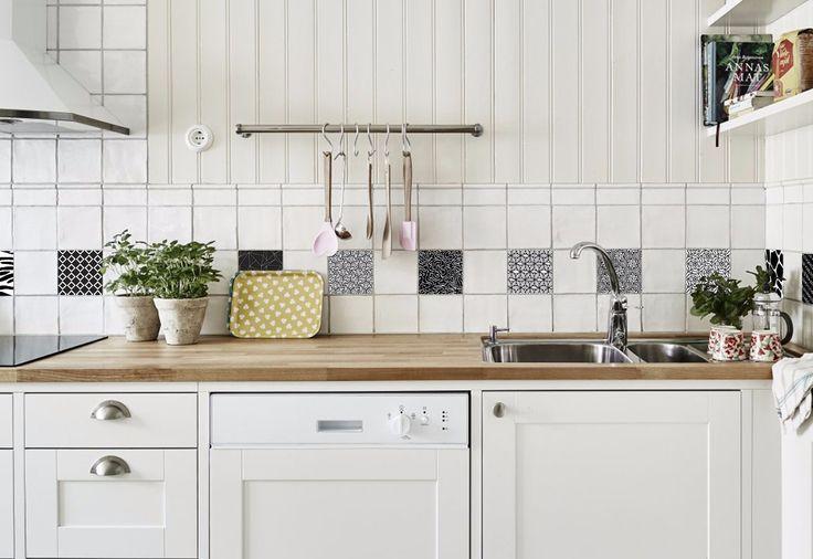 M s de 25 ideas incre bles sobre vinilos para azulejos en for Guardas para cocina
