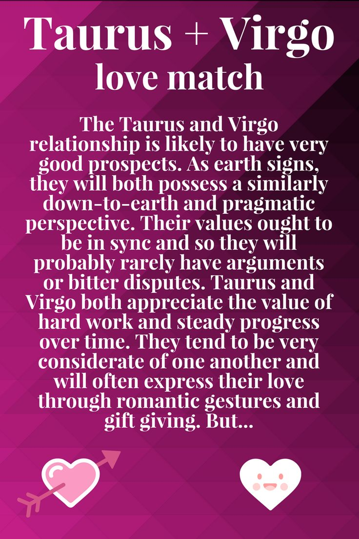 Taurus Compatibility With Each Zodiac Sign | Virgo