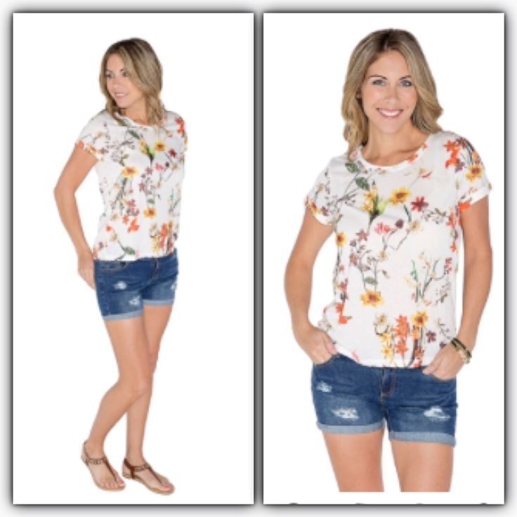 Silver Icing Wildflower Tee and Beach Babe Shorts