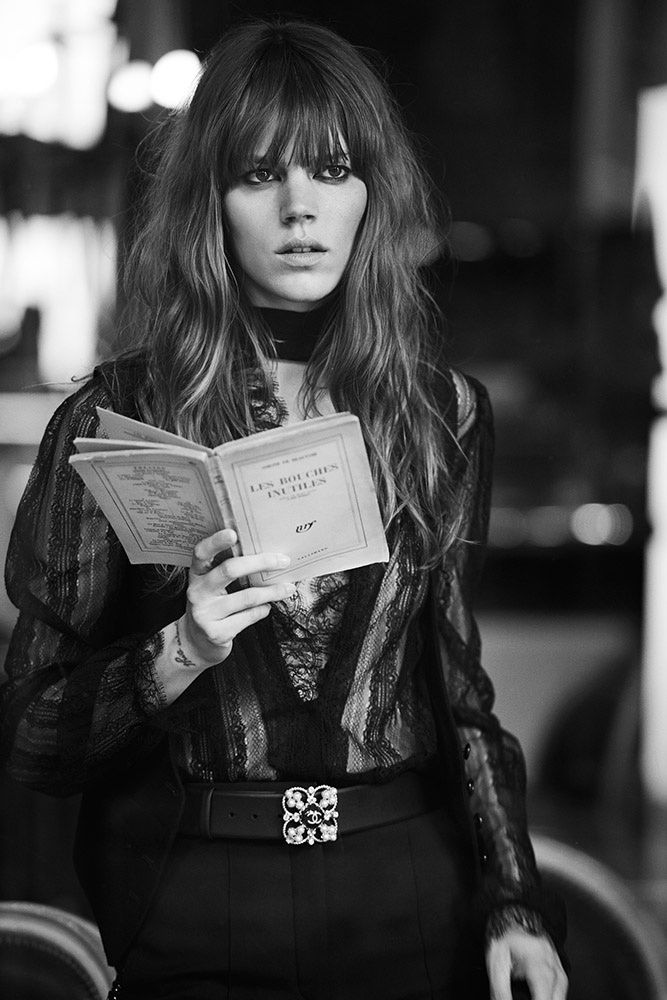Novel Romance: Lara Stone, Freja Beha Erichsen by Peter Lindbergh for W Magazine November 2015