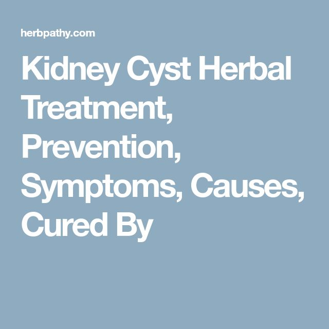 Kidney Cyst Herbal Treatment, Prevention, Symptoms, Causes, Cured By