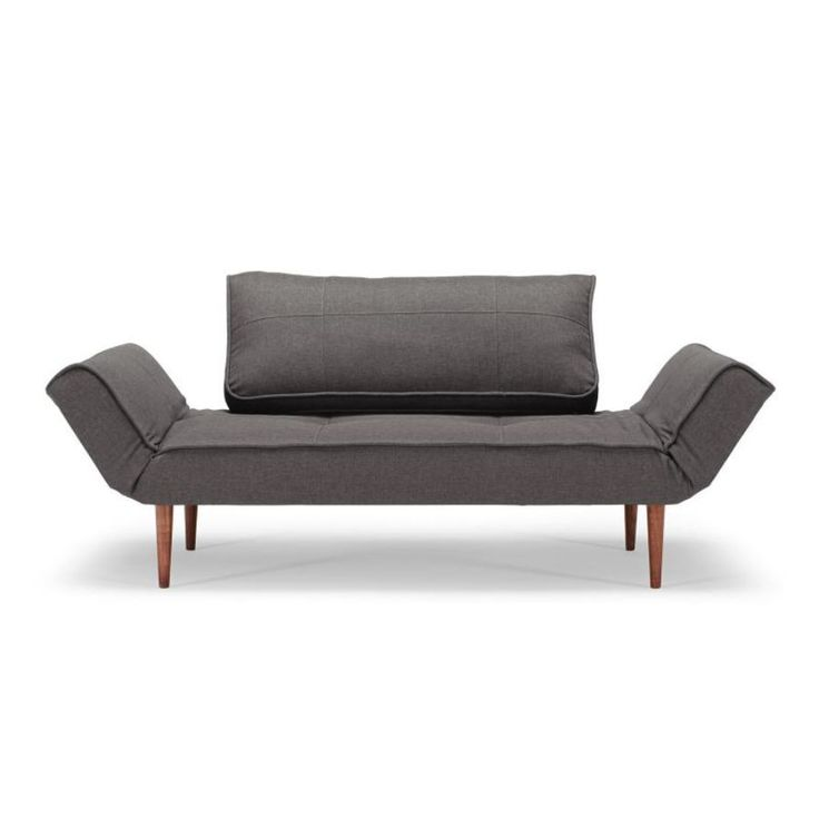 SOFA ROZKŁADANA ZEAL FLASHTEX DARK GREY INNOVATION