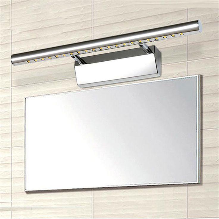 Modern Rozsdamentes acél LED első tükrös világítás fürdőszoba sminkes fali lámpák led mosodai WC falra szerelt lámpák világítás beágyazott fal lámpák a világítás és világítás Aliexpress.com   Alibaba Group