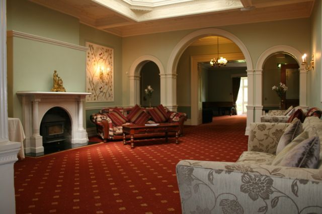 The Inkwell reception room, one of five reception rooms at Holne Park House