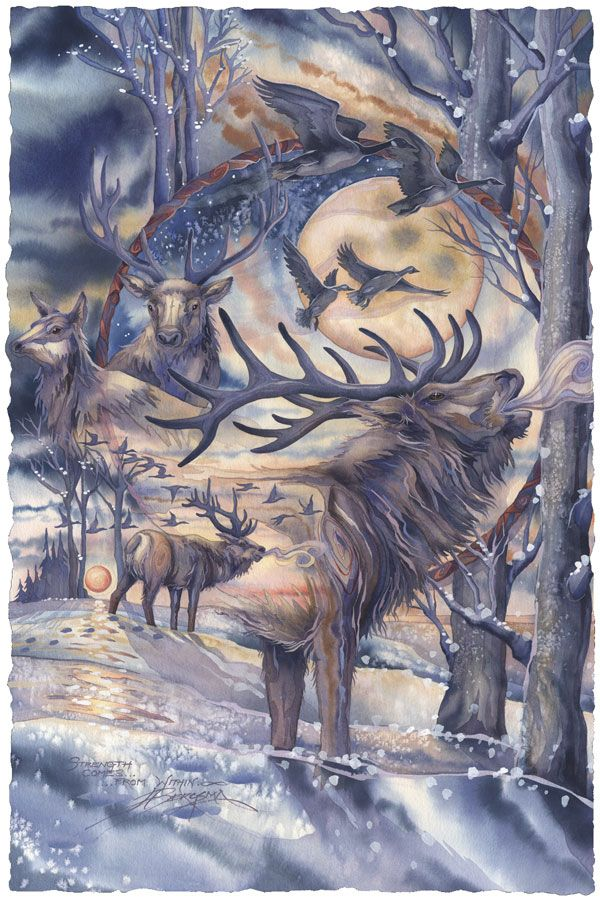 Bergsma Gallery Press :: Paintings :: Natural Elements :: Wild Land Animals :: Hooved Animals :: Noble Spirit - Prints
