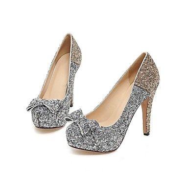 Scarpe Donna - Scarpe col tacco - Matrimonio / Formale - Tacchi / A punta - A stiletto - Lustrini - Blu / Rosa / Dorato del 2015 a €45.59