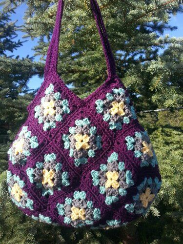 Beatrice Ryan Designs: cute stuff!: Crochet Granny, Beatrice Ryan, Pur Written, Crochet Bags, Beautiful Colors, Bags Purses, Crochet Knits, Beautiful Crochet, Hobo Bags