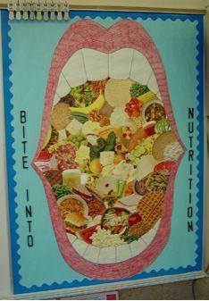 Bite into Nutrition Bulletin Board