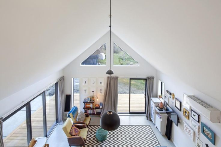 Full Height Ceilings   Mezzanine Floor, NZ Architecture, Interior Arcitecture, home design inspiration, first home build ideas   Read The Full Story Here: http://buildme.co.nz/nz-homes/little-black-barn-home-queenstown/   #BuildingNZ