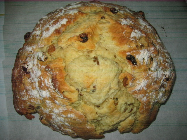 My Irish Soda Bread (notice my camera was starting to go, may it rest ...