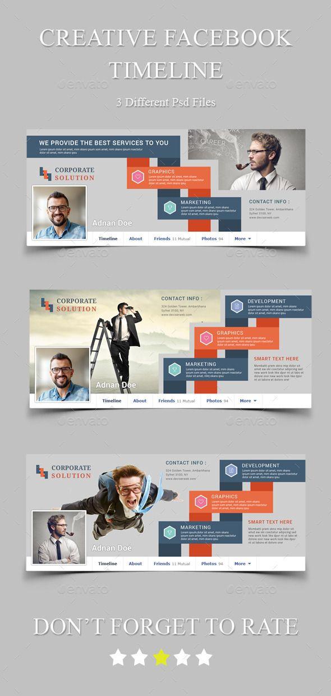 Creative Facebook Timeline Cover Template PSD #design Download…