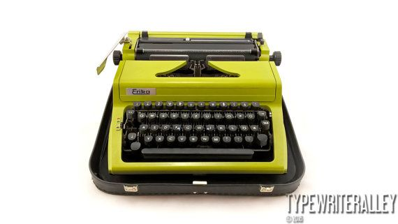 Greenhorn. ERIKA 105 1983, Erika typewriter, vintage typewriter, portable typewriter, manual typewriter, working typewriter.