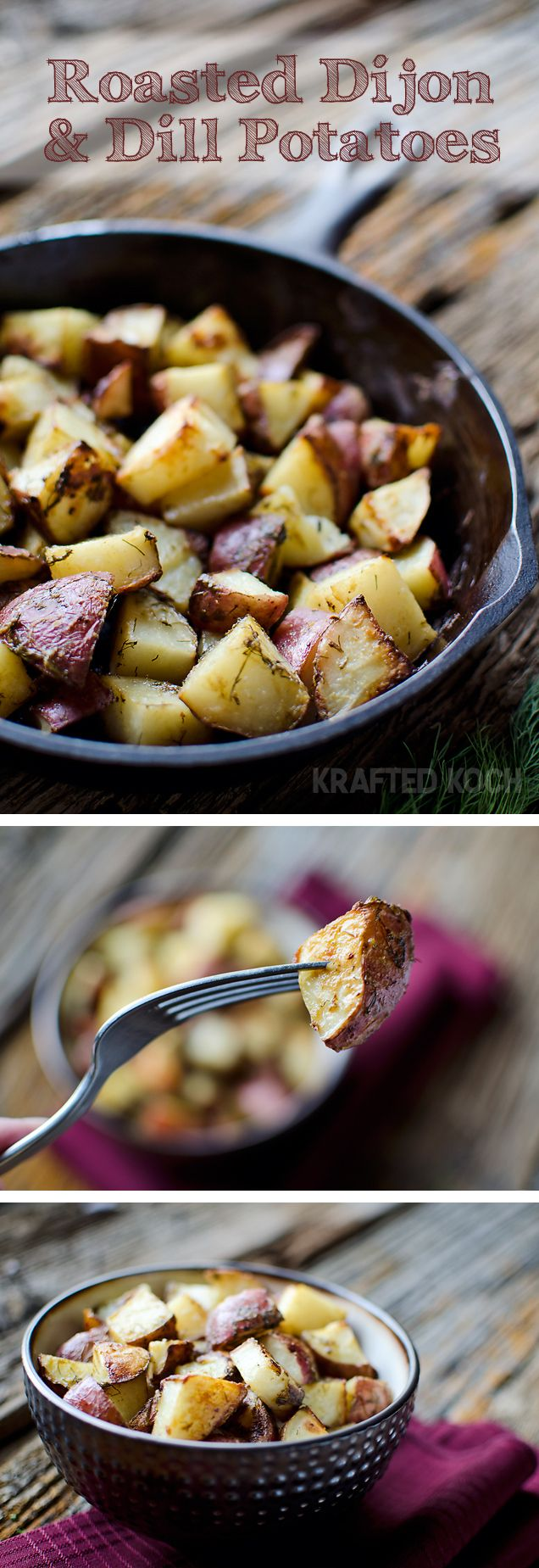 Make this simple roasted potato recipe for the Thanksgiving feast.  This dish packs plenty of flavor and is seasoned to perfection.