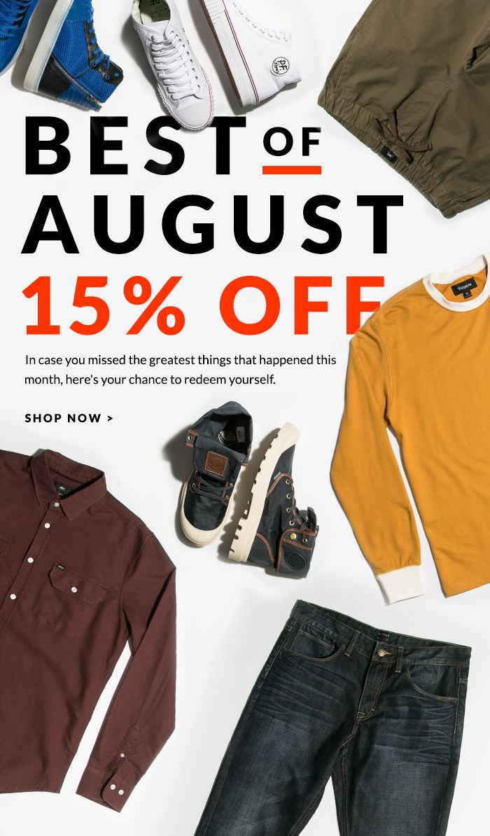 15% Off The Best Of August.