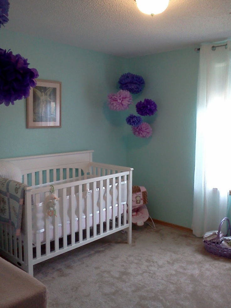 Aqua And Purple Nursery Teal Nursery