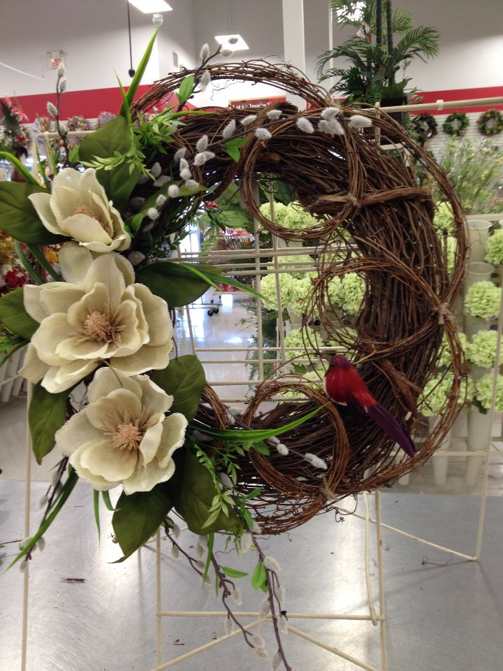 Contemporary magnolia wreath 303 best Contemporary floral