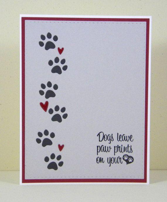 Dog Sympathy Card, Pet Sympathy Card, Handmade Dog Sympathy, Loss of