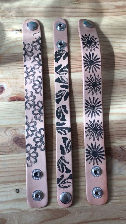 DIY Stamped Leather Cuffs - Use this Hack to create your own stamps - Love it!