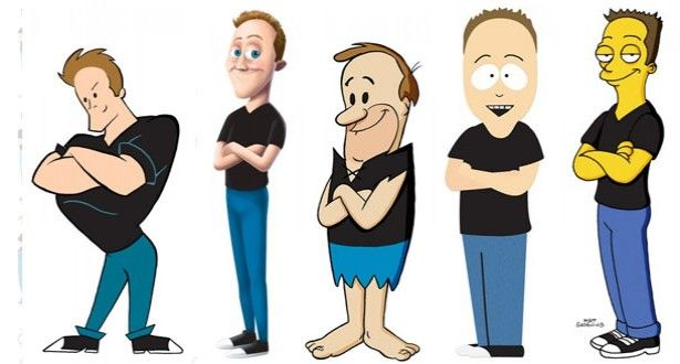 Guy Draws Himself As 100 Different Cartoon Characters