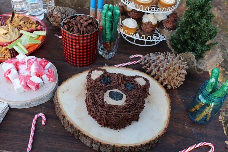 Lumberjack Birthday Chocolate Bear Smash Cake Things