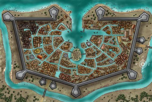 Harbor City.  Interesting concept, but there needs to be a way to protect the harbor. No point in having high walls if your enemies can sail right in.