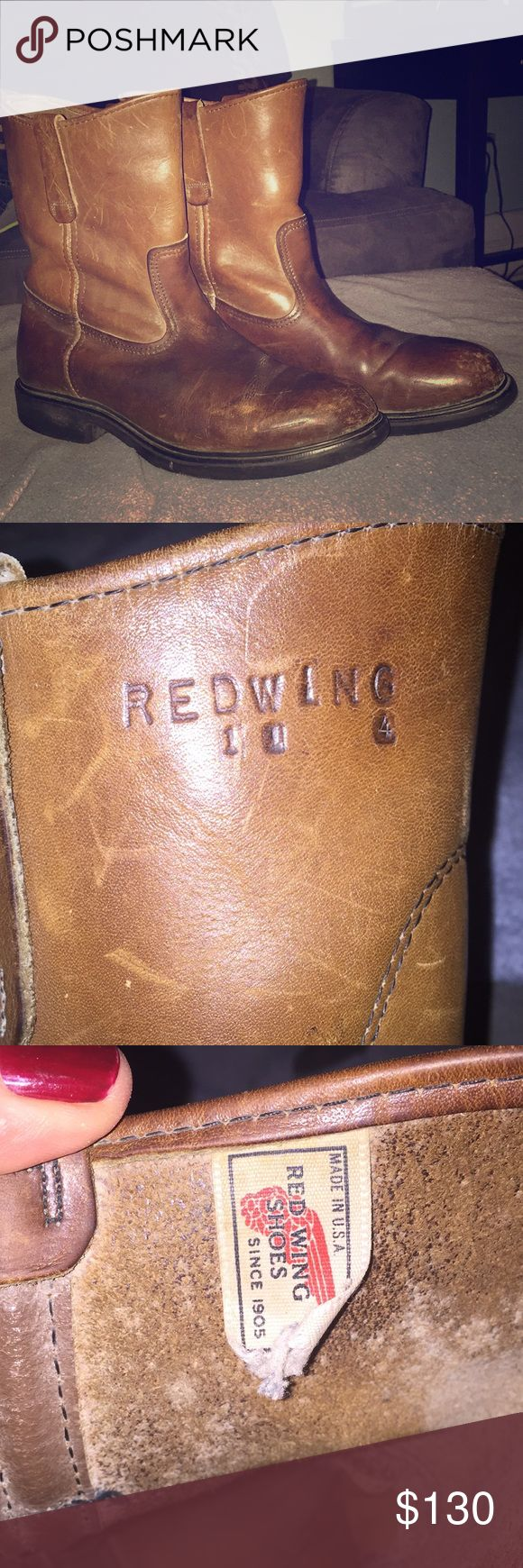 Redwing Boots - Vintage Pecos. Mens 11 Vintage Pecos style. Men's Size 11. Sharp looking.   Sole and upper and lower in great. condition. All leather, has some scuffs but seems to add character. Red Wing Shoes Shoes Boots