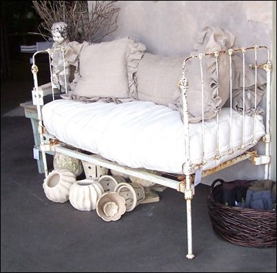 old iron bed ...just found one on craigslist today!!!  I am soooo doing this!