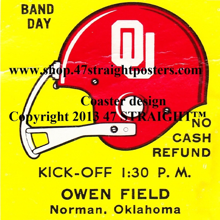Father's Day Gifts under $40. 1977 OU Football Ticket Coasters™ made from an authentic '77 Oklahoma football ticket. Best Father's Day gifts for college football fans. Ceramic drink coasters made from over 2,000 college football tickets. Printed in the U.S.A. #collegefootball #giftideas #fathersday Unique Father's Day gift ideas for sports fans.Best Father's Day gift ideas under $40. OU Sooners gift ideas from 47 STRAIGHT.™