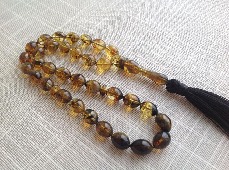 Authentic Baltic amber Islamic Rosary 33 Prayer Beads