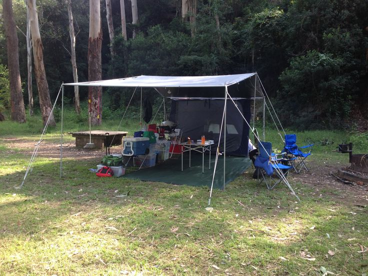 #CAMPAKIT set up at #WheenyCreek for an #overnight #camping #adventure from the #TarPOLEInRange with the #CampKingsCrew