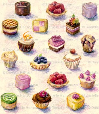 Sweets and pastry #illustrations
