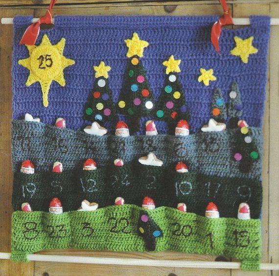PDF Advent Calendar Crochet Pattern Only by DWCrochetPatterns