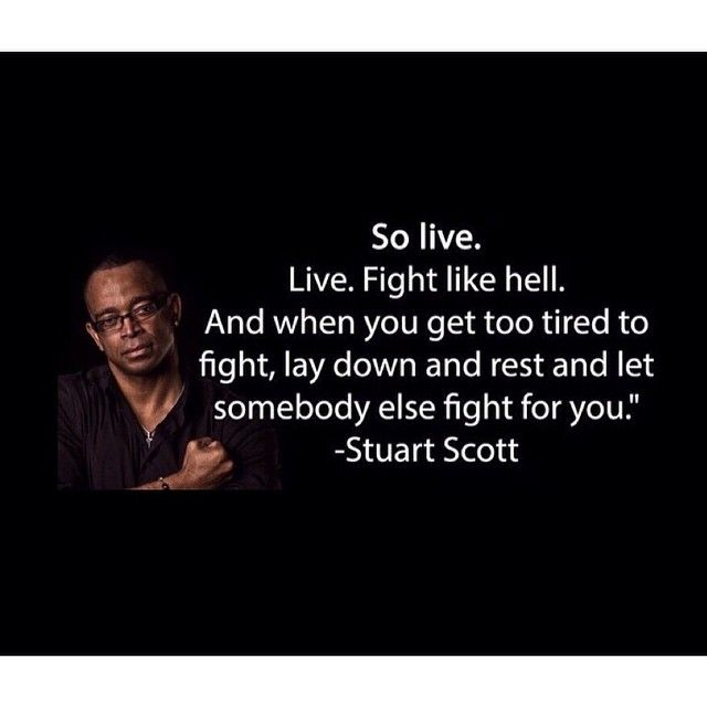 """Beat Cancer Quotes: """"Live. Fight Like Hell."""" - Stuart Scott"""