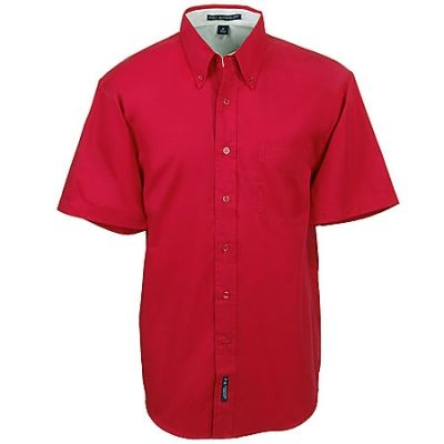 Port Authority S508 RED Men's Red Short Sleeve Shirt