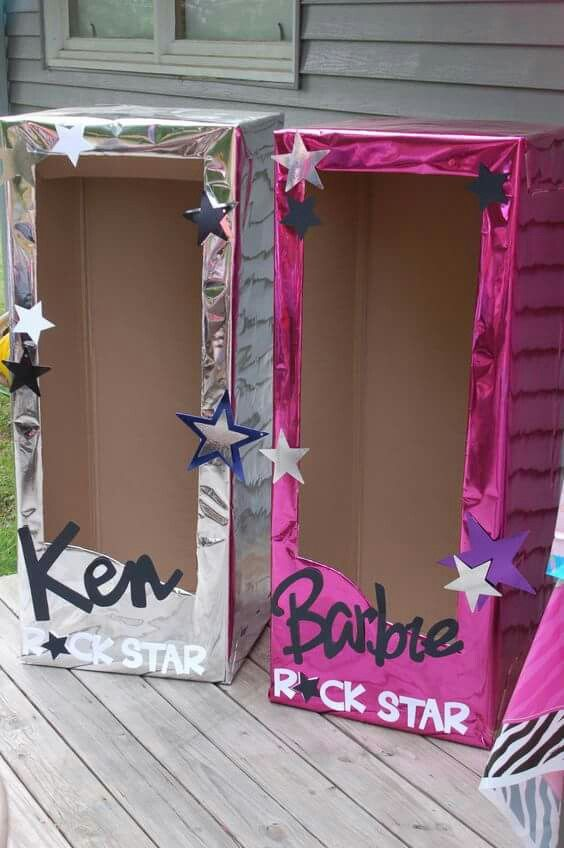 Ken & Barbie photo booth box
