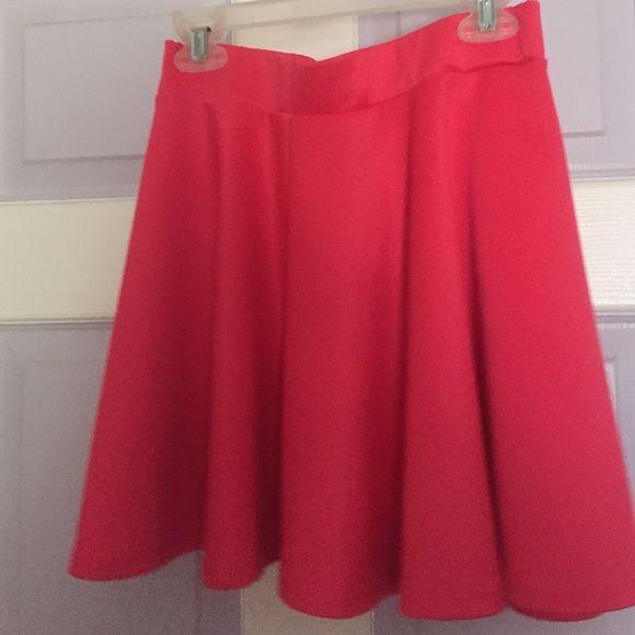 Pink skater skirt Hot pink skater skirt size small-- never worn Body Central Skirts Circle & Skater