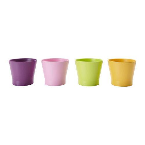 PAPAJA Vaso IKEA Interior lacado; torna o vaso impermeável.