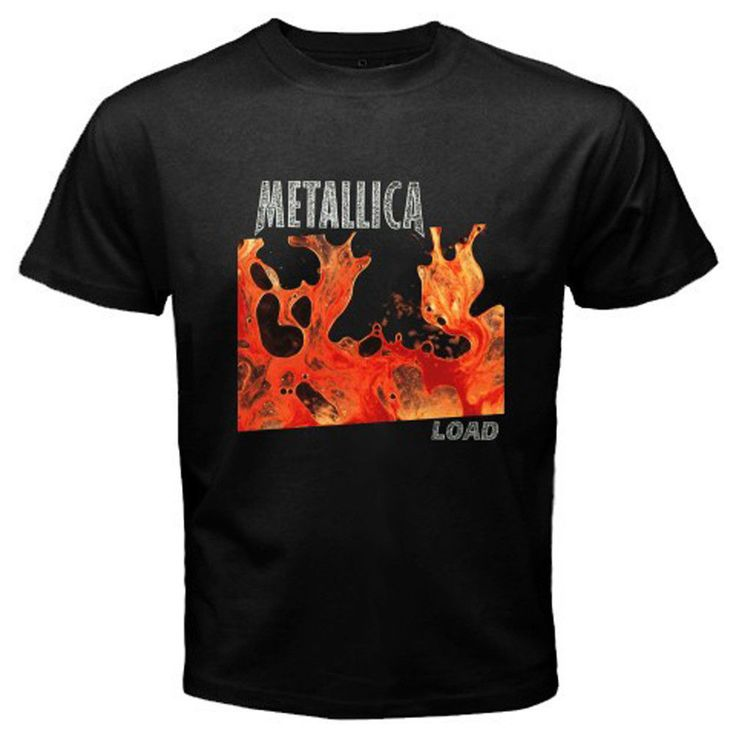 New METALLICA *LOAD Album Metal Rock Legend Men's Black T-Shirt Size S To 2XL Harajuku Funny Men Tee Shirts T Shirt O-Neck Men #Affiliate