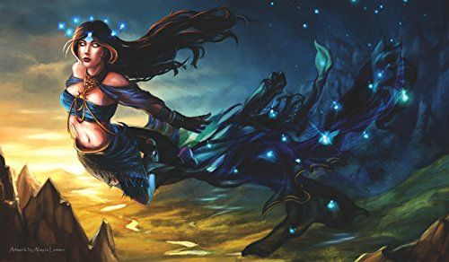 Collectible Trading Card Playmats - MTG Playmat Artists of Magic Premium  NYX GREEK GODDESS AUTOGRAPHED By the Artist ALYNA LEMMER * More info could be found at the image url.