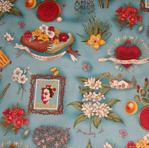Telas vintage viva frida 100% coton tissu textile mètres couture de tissu patchwork matériau robe de vêtements tecidos para artesanato dans Tissu de Maison & Jardin sur AliExpress.com | Alibaba Group