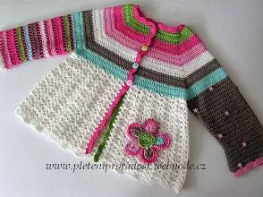 Fotó: crochet baby cardigan