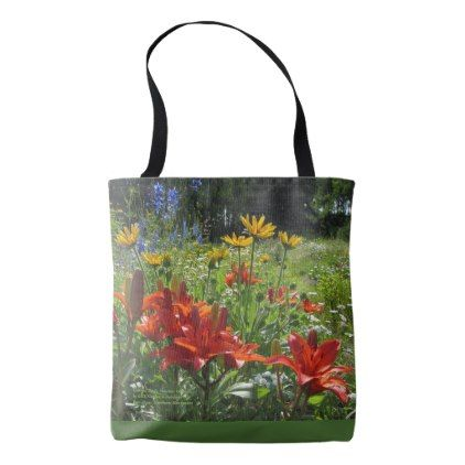 Colorful Early Summer Gardens! Tote Bag - floral style flower flowers stylish diy personalize