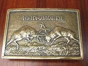 Deutsche Buckles,Adler Drachen mittelalterliche Ornamente, Jagdhund, Dackel, Rauhaardackel