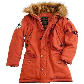 Alpha Polar Womens Parka - Red