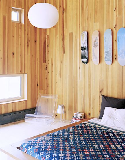 10 Skateboard-inspired spaces with major cool factor // Skateboard deck wall-art #decor: Teens Rooms, 10 Skateboard Inspiration, Skateboard Inspiration Spaces, Skateboard Decks, Interiors Design, Skateboard Wall, Teens Boys Rooms, Douglas Friedman, Interiors Bedrooms