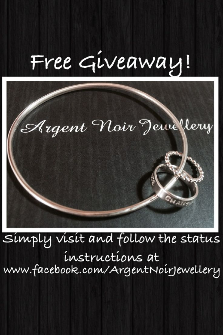 #free #giveaway #win #sale #craft #diy #gift #jewellery follow the instructions at www.facebook.com/ArgentNoirJewellery