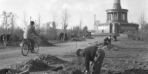 Der Grosse Tiergarten In Berlin Wie Eine Der Beruhmtesten Parkanlagen Europas Nach Dem Krieg Aufgeforstet Wurde Parkanlage Englischer Landschaftspark Tiere