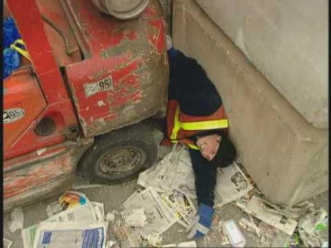 Very Scary Video of Young forklift operator who breaks his back.