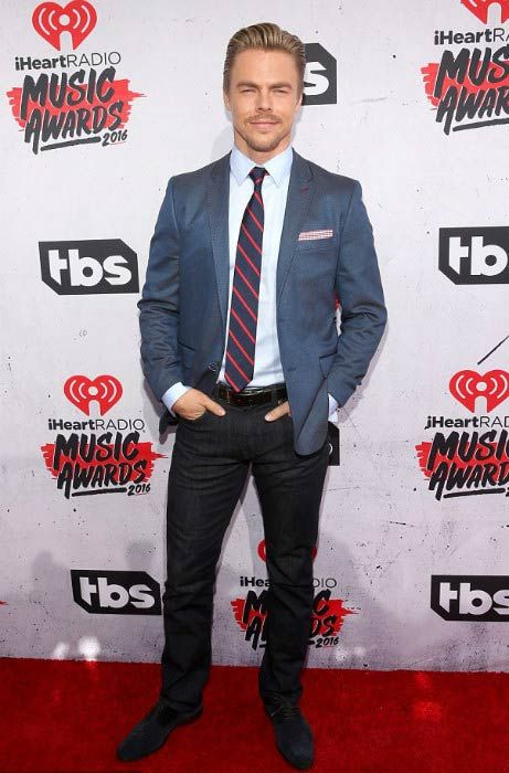 Derek Hough at the iHeartRadio Music Awards in April 2016...