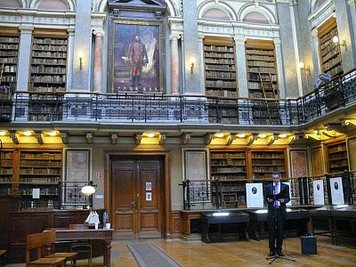 UNIVERSITY LIBRARY, Budapest, Hungary.